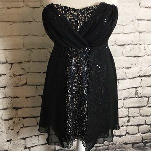Trixxi Dresses - Trixxi Sexy Little Sequin Black Dress 5